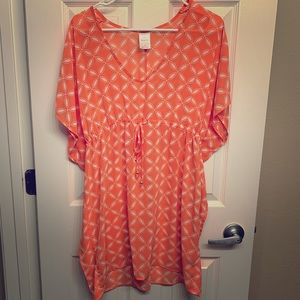 CORAL colored swimsuit coverup